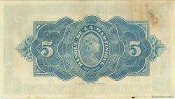 5 Francs type Américain MARTINIQUE  1944 P.16b TTB