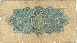 5 Francs type Américain MARTINIQUE  1944 P.16b AB