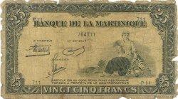 25 Francs type Américain MARTINIQUE  1943 P.17 AB