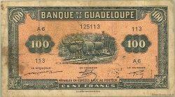 100 Francs type Américain GUADELOUPE  1944 P.23a B