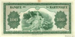 100 Francs MARTINIQUE  1943 P.19a TTB+
