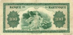 100 Francs MARTINIQUE  1943 P.19a TB