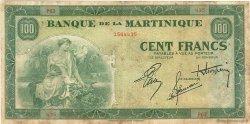 100 Francs type Américain MARTINIQUE  1944 P.19a TB