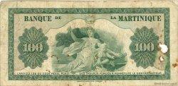 100 Francs MARTINIQUE  1945 P.19a B+