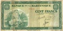 100 Francs type Américain MARTINIQUE  1945 P.19a TB