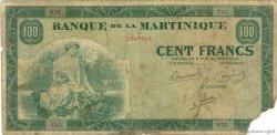 100 Francs type Américain MARTINIQUE  1945 P.19a B