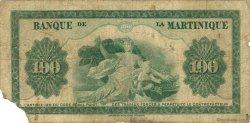 100 Francs MARTINIQUE  1945 P.19a B