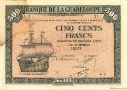 500 Francs type Américain GUADELOUPE  1943 P.24a TTB+