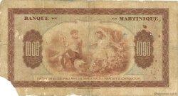 1000 Francs MARTINIQUE  1943 P.21a B