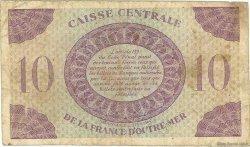 10 Francs type Anglais MARTINIQUE  1944 P.23 TB