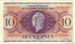10 Francs type Anglais MARTINIQUE  1944 P.23 pr.SUP