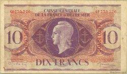 10 Francs type Anglais GUADELOUPE  1944 P.27a B+