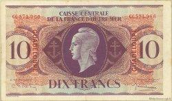 10 Francs type Anglais GUADELOUPE  1944 P.27a TTB