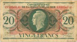 20 Francs type Anglais MARTINIQUE  1944 P.24 pr.TB