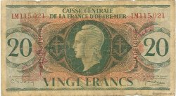 20 Francs type Anglais GUADELOUPE  1944 P.28a AB