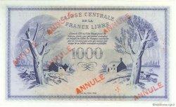 1000 Francs type 1943 Anglais, phénix MARTINIQUE  1944 P.22b SPL
