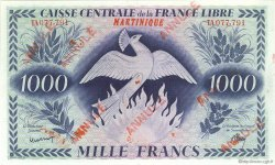 1000 Francs Phénix MARTINIQUE  1944 P.22b SPL