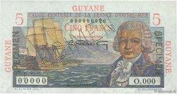 5 Francs Bougainville GUYANE  1946 P.19s NEUF