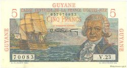 5 Francs Bougainville GUYANE  1946 P.19a SUP