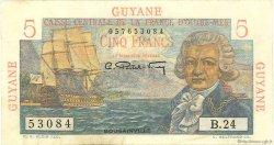 5 Francs Bougainville GUYANE  1946 P.19a TTB