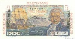 5 Francs Bougainville MARTINIQUE  1946 P.27s pr.NEUF