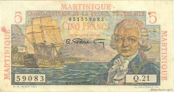 5 Francs Bougainville MARTINIQUE  1946 P.27a TTB