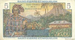 5 Francs Bougainville SAINT PIERRE ET MIQUELON  1946 P.22 TTB à SUP