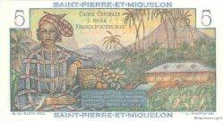 5 Francs Bougainville SAINT PIERRE ET MIQUELON  1946 P.22 NEUF