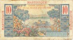 10 Francs Colbert MARTINIQUE  1946 P.28 B à TB