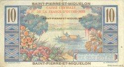10 Francs Colbert SAINT PIERRE ET MIQUELON  1946 P.23 TTB
