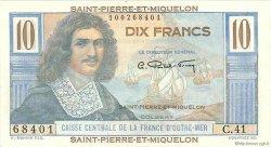 10 Francs Colbert SAINT PIERRE ET MIQUELON  1946 P.23 SUP+