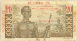20 Francs E.Gentil GUADELOUPE  1946 P.33 B à TB