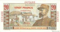 20 Francs E.Gentil GUYANE  1946 P.21s SUP+