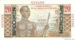 20 Francs E.Gentil GUYANE  1946 P.21s NEUF