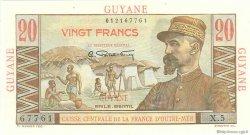 20 Francs Émile Gentil GUYANE  1946 P.21 SPL