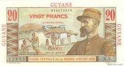 20 Francs E.Gentil GUYANE  1946 P.21 NEUF