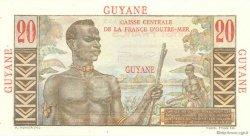 20 Francs Émile Gentil GUYANE  1946 P.21 NEUF