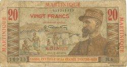 20 Francs E.Gentil MARTINIQUE  1946 P.29 B