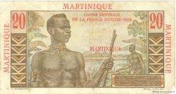 20 Francs Émile Gentil MARTINIQUE  1946 P.29 TTB