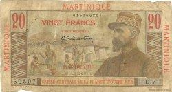20 Francs Émile Gentil MARTINIQUE  1946 P.29 B