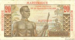 20 Francs E.Gentil MARTINIQUE  1946 P.29 TTB