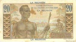 20 Francs Émile Gentil ÎLE DE LA RÉUNION  1946 P.43a TTB