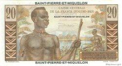 20 Francs E.Gentil SAINT PIERRE ET MIQUELON  1946 P.24 NEUF