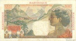 100 Francs La Bourdonnais MARTINIQUE  1946 P.31 pr.TTB