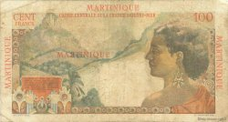 100 Francs La Bourdonnais MARTINIQUE  1946 P.31 B