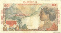 100 Francs La Bourdonnais MARTINIQUE  1946 P.31 TB