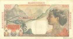 100 Francs La Bourdonnais MARTINIQUE  1946 P.31 TTB