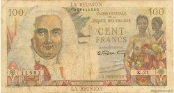 100 Francs La Bourdonnais ÎLE DE LA RÉUNION  1946 P.45a B+