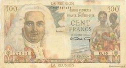 100 Francs La Bourdonnais ÎLE DE LA RÉUNION  1946 P.45a TB