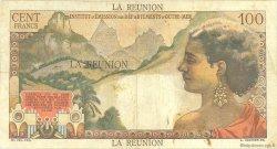 100 Francs La Bourdonnais ÎLE DE LA RÉUNION  1960 P.49a TB